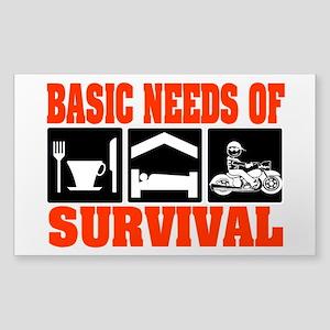 Basic Needs of Survival Sticker (Rectangle)