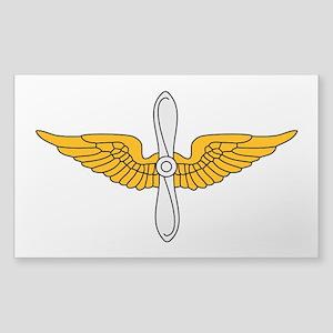 Aviation Branch Insignia Sticker (Rectangle)