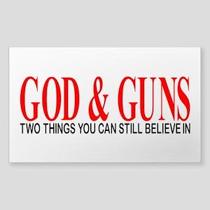 GOD AND GUNS Sticker (Rectangle)