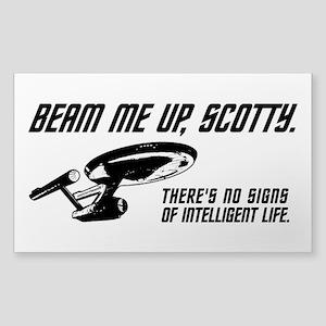 Beam Me Up Scotty Sticker