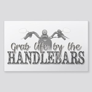 Grab Life By The Handlebars Sticker (Rectangle)