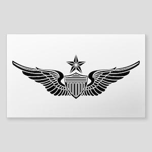Aviator - Senior B-W Sticker (Rectangle)