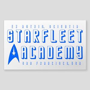 Starfleet Blu Sticker (Rectangle)