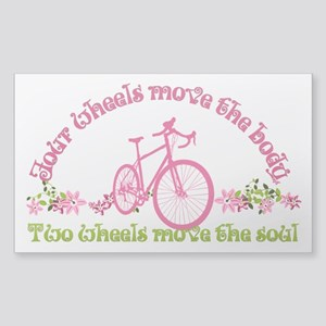 Two wheels move the soul Sticker