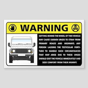Rover Occupant Advisory Sticker Sticker
