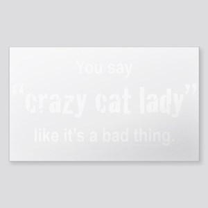 Cat Lady Sticker (Rectangle)
