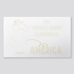 Trickle Down 1217 Sticker (Rectangle)