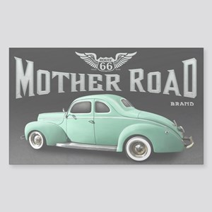Mother Road - Mint Sticker (Rectangle)