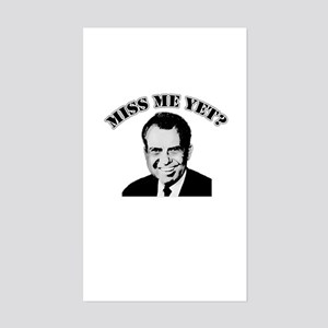 TRICKY DICK NIXON Miss Me Yet Sticker (Rectangle)
