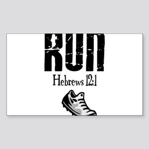 run hebrews Sticker