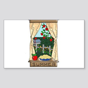 Kitchen Window View of Summer Scene Sticker