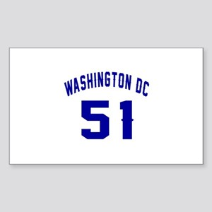 Washington Dc 55 Sticker (Rectangle)