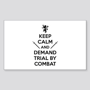 Trial By Combat Sticker (Rectangle)
