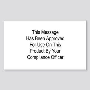 Compliance Approval Rectangle Sticker