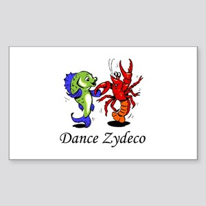 Dance Zydeco Rectangle Sticker