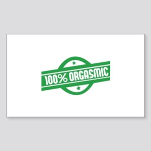 100% orgasmic Sticker (Rectangle)