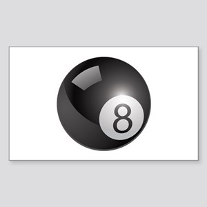 eight ball Sticker (Rectangle)