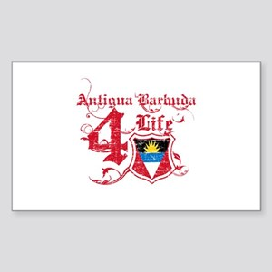 Antigua Barbuda for life designs Sticker (Rectangl