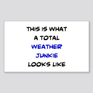 total weather junkie Sticker (Rectangle)