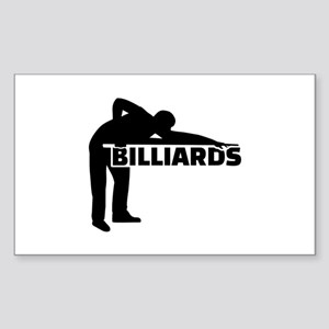 Billiards Sticker (Rectangle)