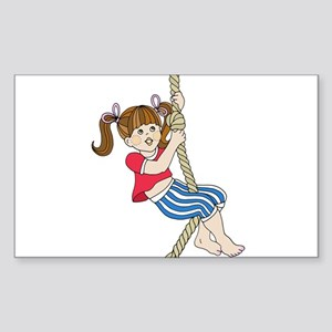 Little Girl Swinging on Rope Sticker