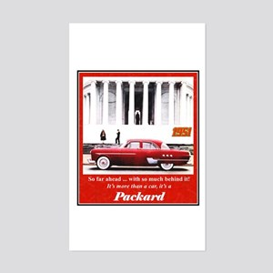 """1951 Packard Ad"" Rectangle Sticker"