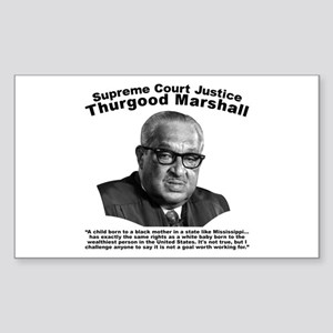 Thurgood Marshall: Equality Sticker (Rectangle)