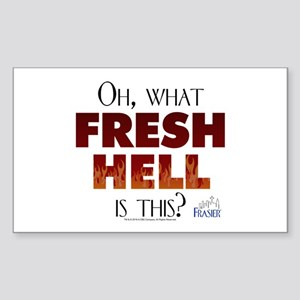 Frasier: Oh What Fresh Hell? Sticker (Rectangle)