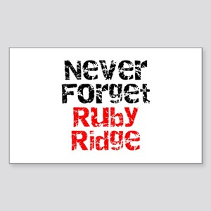 Never Forget Ruby Ridge Rectangle Sticker