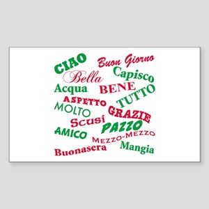 Italian Sayings Rectangle Sticker