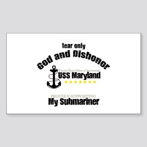 USS Maryland Rectangle Sticker