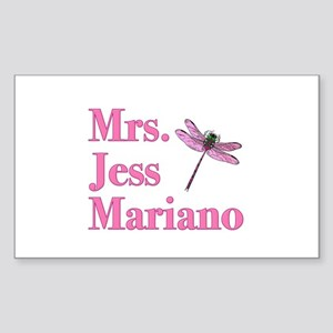 Mrs. Jess Mariano Gillmore Girls Sticker (Rectangl
