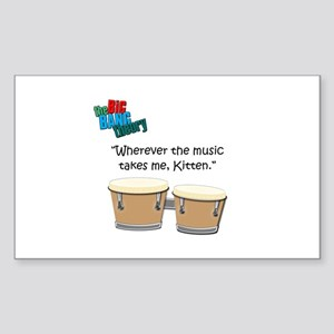 Wherever the Music Takes Me Sticker (Rectangle)