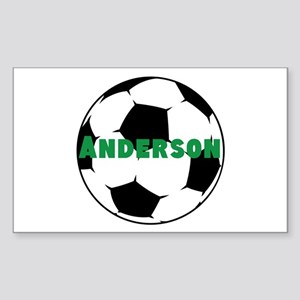 Personalized Soccer Sticker (Rectangle)