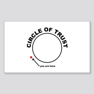 Circle of Trust Sticker (Rectangle)