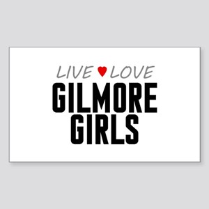 Live Love Gilmore Girls Rectangle Sticker