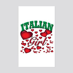 Italian Princess Rectangle Sticker