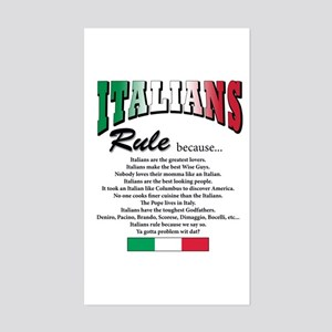 Italians Rules Rectangle Sticker