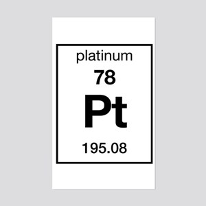 Platinum Periodic Table Rectangle Stickers Cafepress