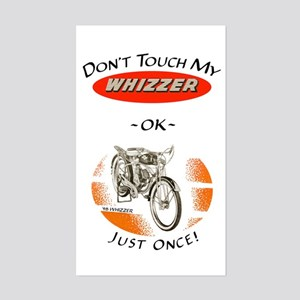 Don't Touch My Whizzer Rectangle Sticker