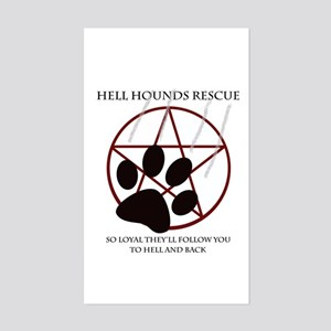 Hell Hounds Rescue wt Sticker (Rectangle)