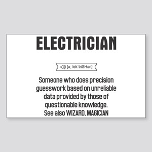 Funny Electrician Definition Sticker