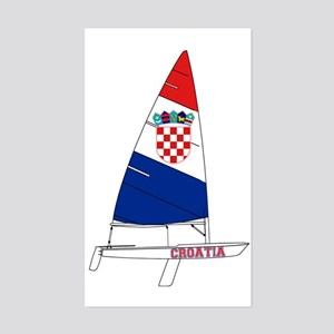 Croatia Dinghy Sailing Sticker (Rectangle)