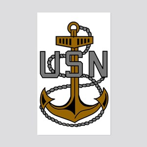 Navy-CPO-Anchor-Subdued Sticker (Rectangle)