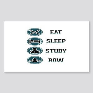 Eat Sleep Study Row Sticker