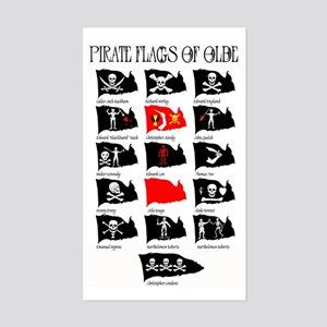 Pirate Flags- Jolly Roger Rectangle Sticker