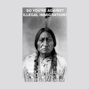 illegal immigration Sticker (Rectangle)