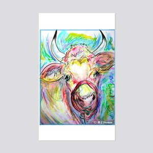 Cow, colorful, art, Sticker (Rectangle)