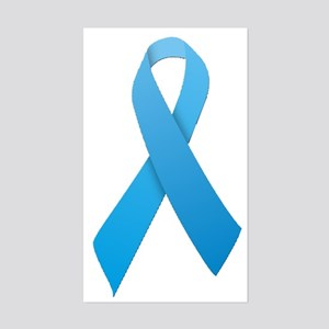Light Blue Ribbon Sticker (Rectangle)