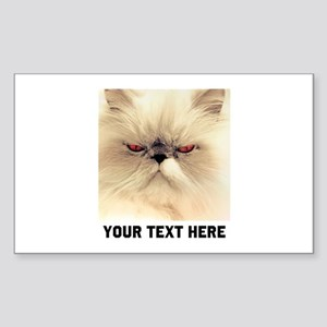 Cat Photo Customized Sticker (Rectangle)